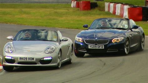 bmw boxster bmw z4 vs porsche boxster s tbt fifth gear
