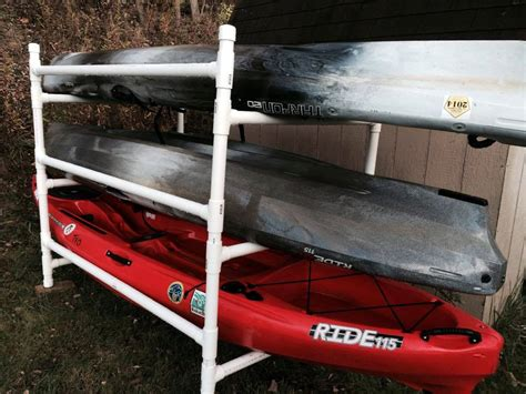 Kayak Rack For by Build A Simple Kayak Rack From Pvc Kayak Fishing Instructor