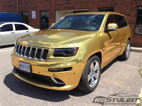 gold jeep gold chrome jeep grand srt 8 vehicle
