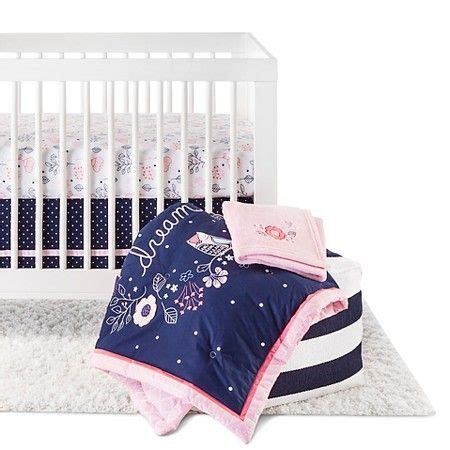 Circo Crib Bedding Circo 4pc Crib Bedding Set Navy N Pink Baby Nursery Bedding Crib