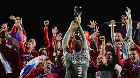 Serbia World Cup Ecstasy In Auckland As Serbia Make History Fifa
