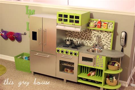 homemade play kitchen ideas diy play kitchen this grey house