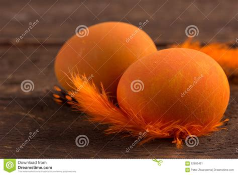 orange easter eggs stock photo image 62805461