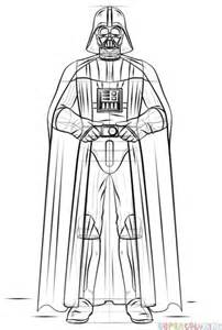 How To Draw Darth Vader  Step By Drawing Tutorials sketch template