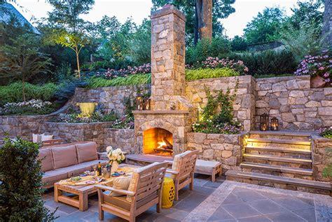 the backyard place outdoor fireplace vienna va landscape fireplace 22180