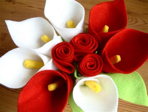 cara membuat bunga dari flanel contoh kerajinan tangan bunga dari kain flanel merah