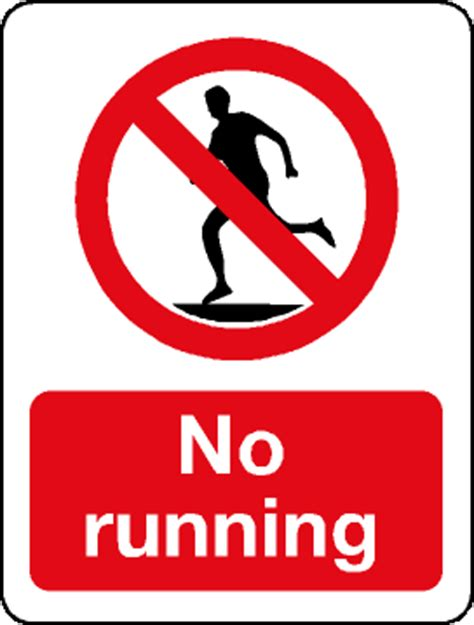 no running in lab sign pictures to pin on pinterest
