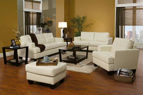 cream couch living room ideas cream leather sofa set samuel collection item 501691