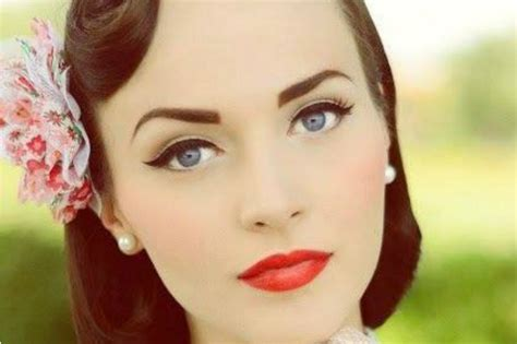 imagenes pin up maquillaje sweetips maquillaje pin up a 241 os 50 s