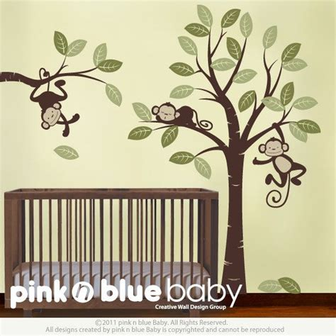 monkeys baby nursery wall decals wall decals