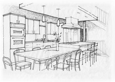 kitchen design sketch drawn kitchen sketch pencil and in color drawn kitchen