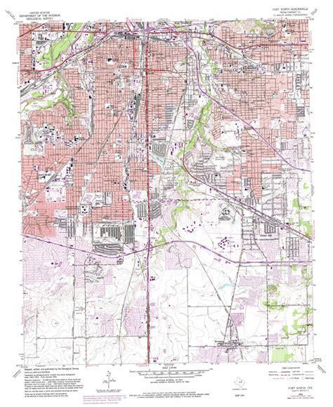 fort worth texas on a map fort worth topographic map tx usgs topo 32097f3