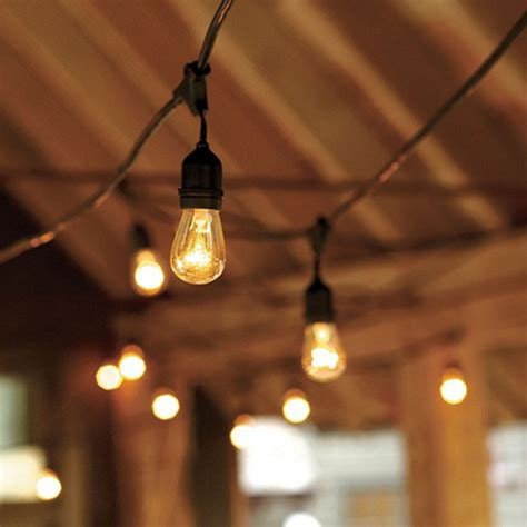 """48' commercial string lighting """"vintage edison style"""