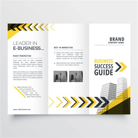 Awesome Tri Fold Brochure Design by Awesome Tri Fold Brochure Design In Yellow Black Shapes