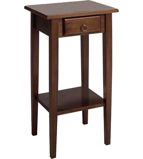 accent table furniture regalia accent table with drawer antique walnut in side