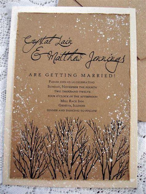 Hochzeitseinladung Winter by Winter Hochzeit Sch 246 Ne Winter Hochzeits Einladung