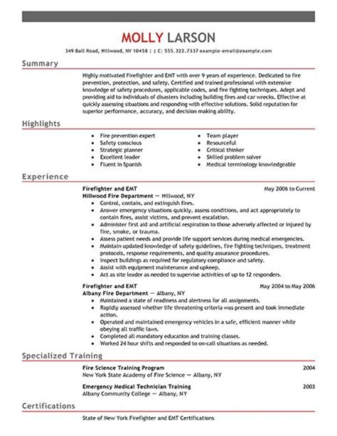 resume exles fire and resume on pinterest