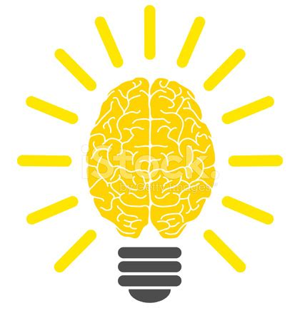 lightbulb brain, eureka! stock vector freeimages.com