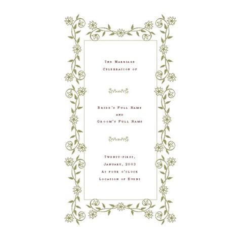 Event Program Template Publisher by Free Wedding Program Templates De Stress Your Wedding