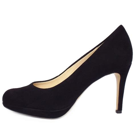 hoegl purdey s leather court shoe in black
