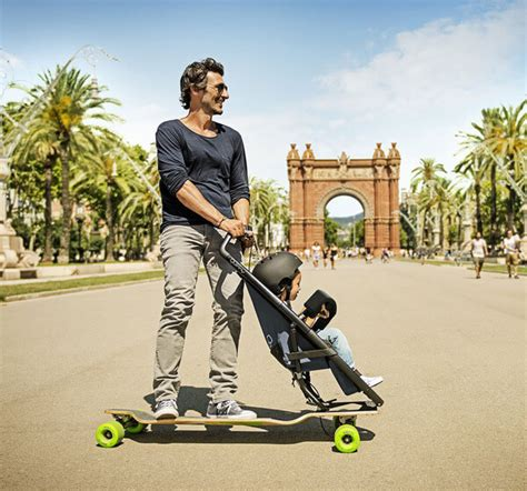 designboom quinny kids and parents will definitely enjoy this longboard stroller