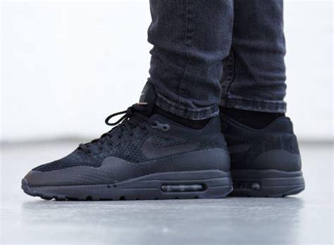 Nike Air Max 1 Ultra Flyknit Black nike air max 1 ultra flyknit black sneaker bar