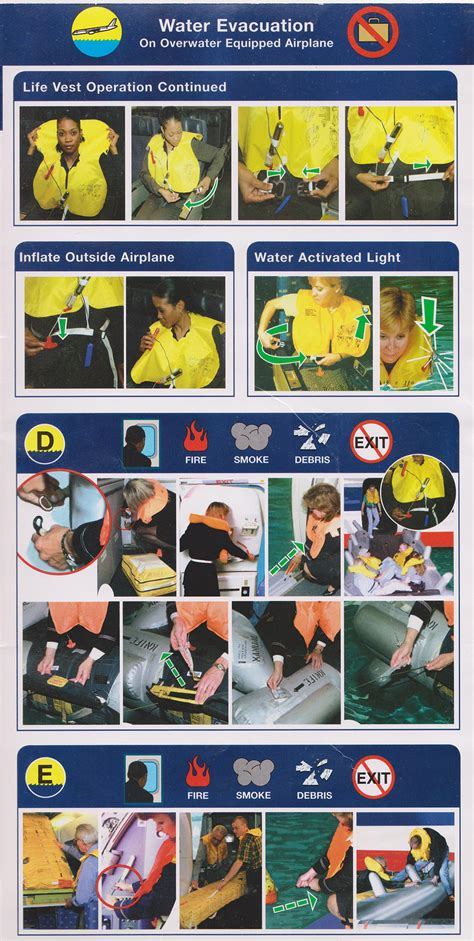Collection Of Airline Safety Cards by Safety Card American Airlines Boeing B757 200 1
