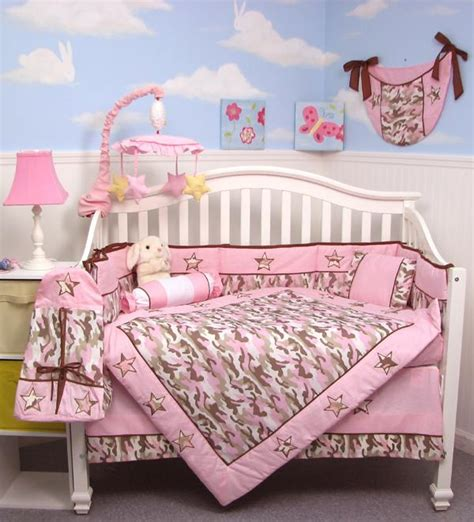 Soho Designs Pink Camo Baby Crib Nursery Bedding Set 14 Pink Camo Baby Bedding Crib Set