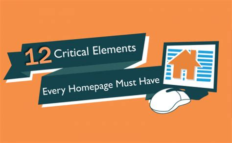homepage design elements critical elements every homepage needs infographic big