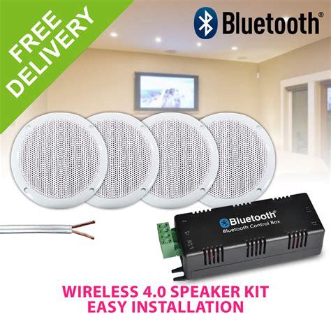 bluetooth ceiling speakers water resistant 4 speaker home