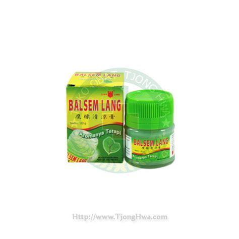 Balsem Lang Hijau 20 Gram balsem lang aromatic 20g