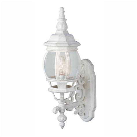 Bel Air Outdoor Lighting Bel Air Lighting Filigree 1 Light Outdoor White Coach Lantern With Clear Glass 4050 Wh The