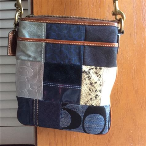 Coach Patchwork Crossbody - 61 coach handbags coach patchwork denim crossbody