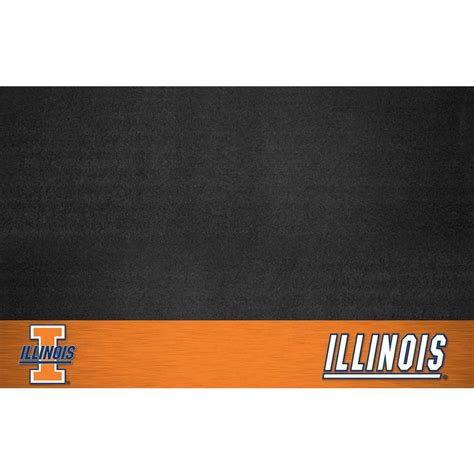fanmats of illinois 26 in x 42 in grill mat