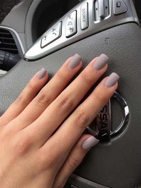 matte grey love my new pretty grey purplish matte polish