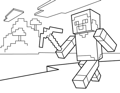 minecraft steve coloring pages free minecraft coloring pages free printable minecraft pdf