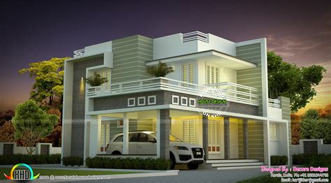 gallery home design torino sober colored beautiful modern house architecture kerala