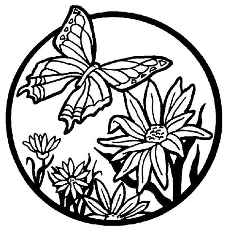 butterfly coloring pages pinterest butterfly garden coloring pages free printable butterfly
