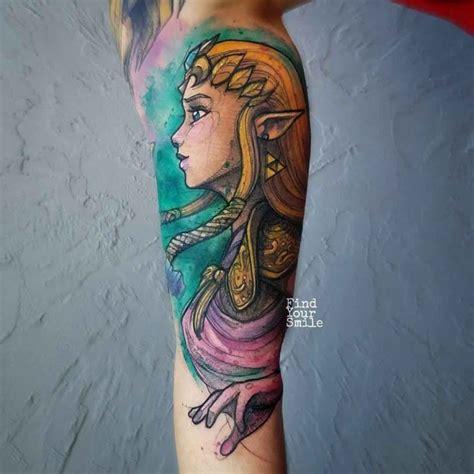 watercolor tattoo zelda best ideas gallery