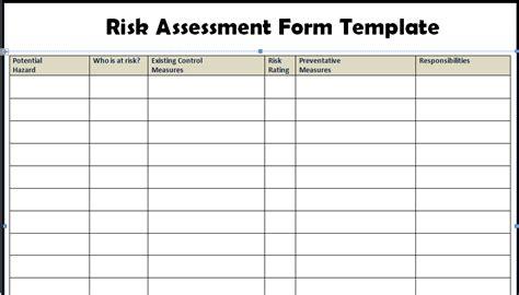 business risk assessment template risk assessment form templates project management