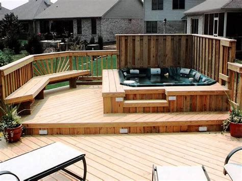 In Deck pros of building a tub deck backyard design ideas