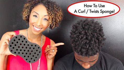 how to bring out curls in black hair this weird sponge will twist your hair for you