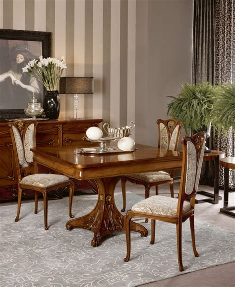 natural wood dining room sets set for the dining room in natural wood with hand carved