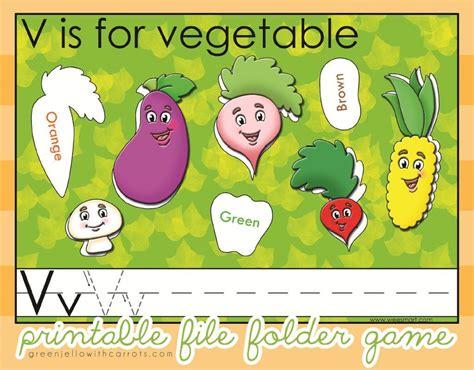 letter v vegetables activities 7 best images of printable vegetable garden crafts craft