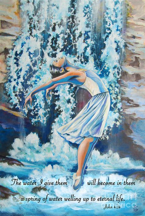 living water landscape living water scripture painting by tamer and elsharouni