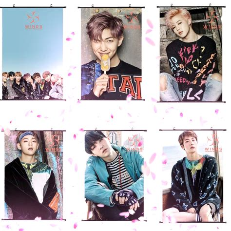 This Is Bts Poster 1 us 4 59 allkpoper bts wings you never walk alone wall hanging poster bangtan boys wallpaper