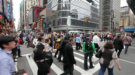Green Kitchen Nyc - crowd of people walking crossing street at intersection in new york city stock video 11143963
