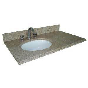 Home Depot Offset Vanity Top Pegasus 37 In W Granite Vanity Top In Beige With Offset
