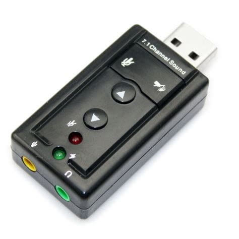K04 Usb 71 Channel Sound Card Usb External Adapter Portable M external usb 2 0 7 1 channel 3d audio sound card adapter black alex nld