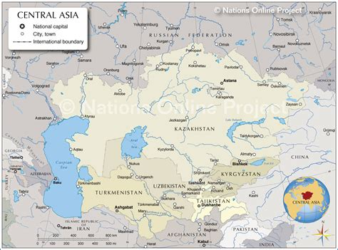 map of central asia africa southwest asia and central asia political map